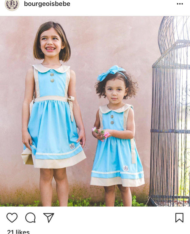 dc03ac41aa334 Message Seller; Add to collection Checked collection Add to Collection.  Bourgeois Bebe Robins Egg Blue Dress