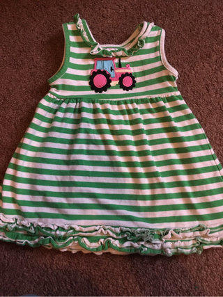 42d8a55039 Southern Tots Tractor Stripe Dress
