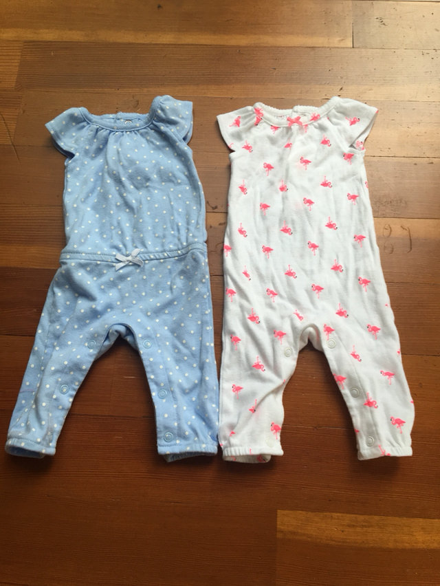 389ca431b Message Seller; Add to collection Checked collection Add to Collection.  Newborn Carter's Girl Rompers Flamingo