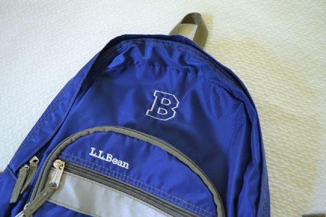 LLBean Monogram B Backpack