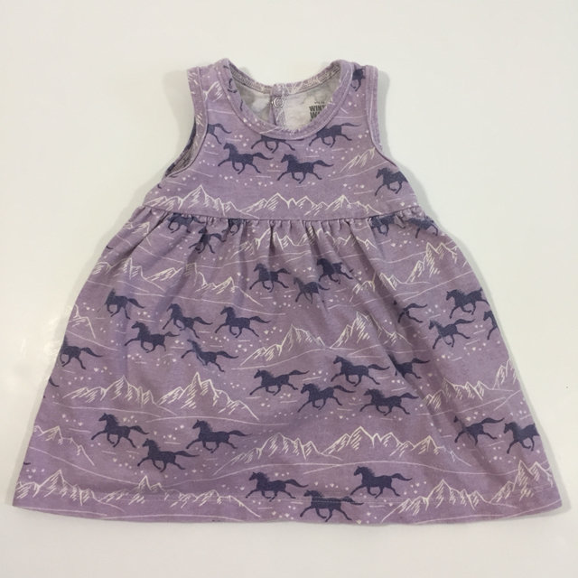 3674dcd05 Message Seller; Add to collection Checked collection Add to Collection.  Winter Water Factory Horse Dress 3 6 Months Purple Indie Hipster Swing Baby  Casual