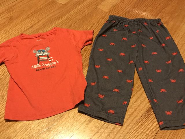 e40e02cca Carters Lifeguard Crab Pajamas