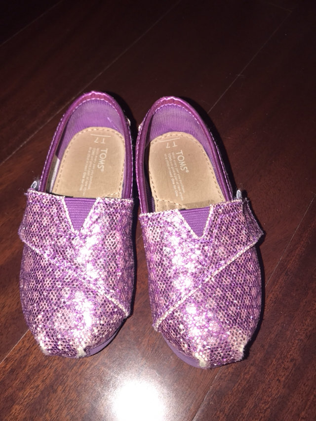 Purple Glitter TOMS 7