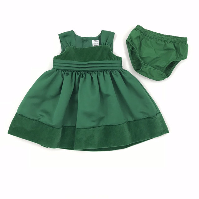 2108e043e Message Seller; Add to collection Checked collection Add to Collection. Carters  Baby Girls Dress Green Size 6 Months Christmas Holiday Sleeveless