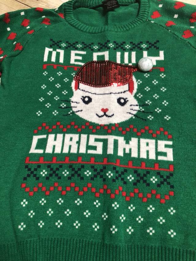 Meowy Cat Kitten Christmas Sweater