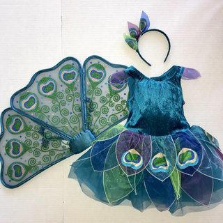 Gymboree Spice Market 2T 3T 4T 5T Navy Blue Peacock Dress Summer 16