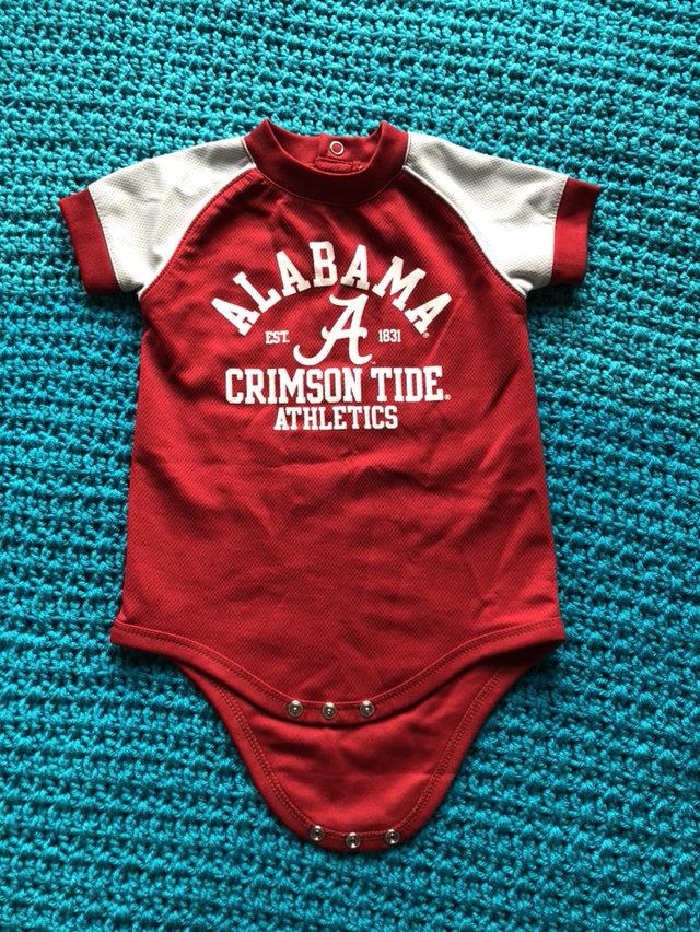 online retailer 0beec c771d Alabama Crimson Tide Jersey Onesie
