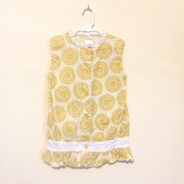 Persnickety Yellow Ivy Button Up Top