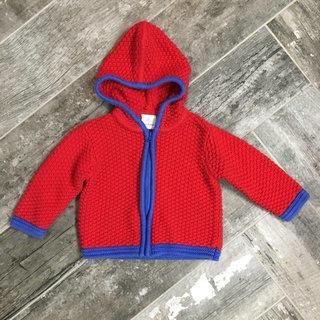 New Maggie Zoe Girls Christmas Wreath Cardigan Sweater 12 mo  NWT