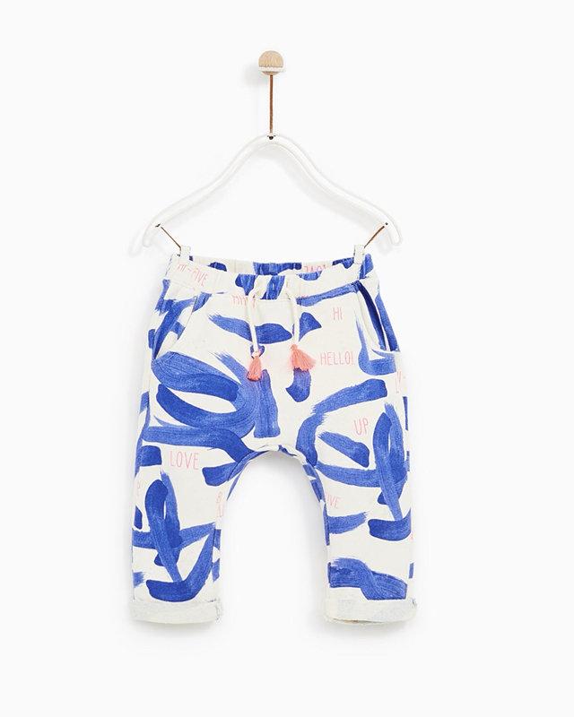 4ddcaca1 Zara Baby Girl Elastic Drawstring Pants 12-18 Months