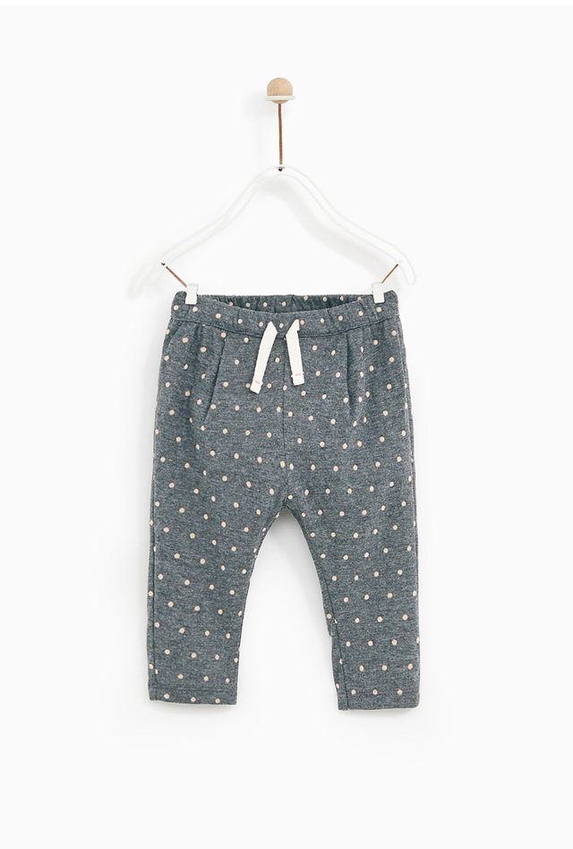 b1d3115d Zara Baby Girl Elastic Drawstring Pants 6/9 Months