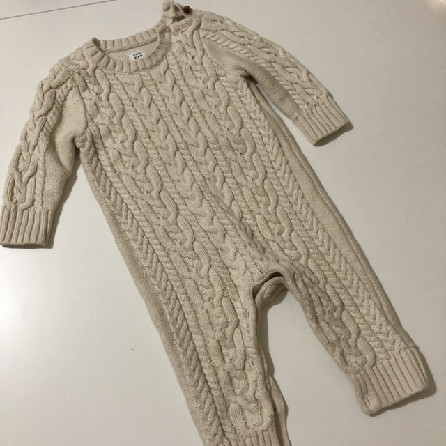 c249c8498597 Created with Sketch. Created with Sketch. Add to Collection. Cream Cable  Knit Sweater Romper Coverall