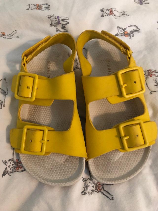 Boys Yellow Zara Sandals