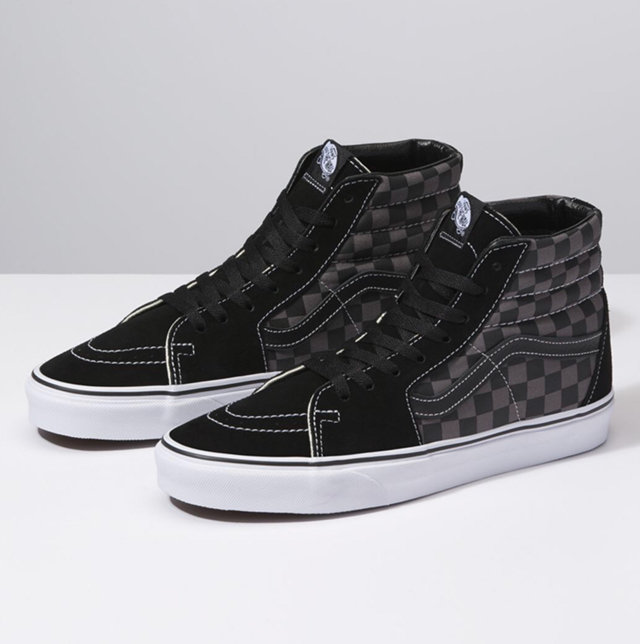 NEW VANS Sk-8 Checkered High Top Sneakers