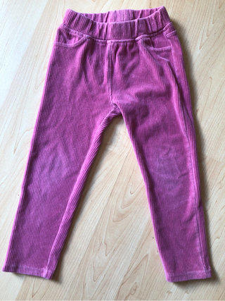 Hanna Andersson Pink Corduroy Style Stretch Legging Pants
