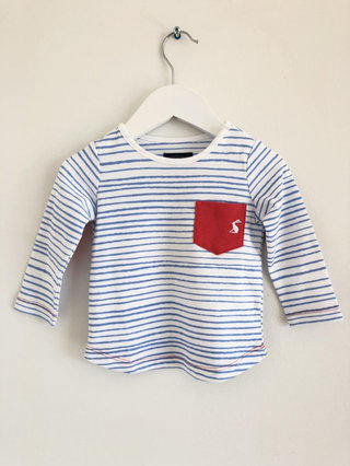 Joules Long Sleeved Applique Tee Supersaurus 7-8