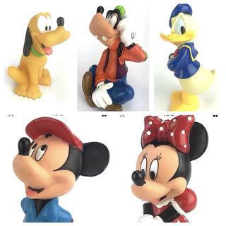 Vintage Disney Mickey Pluto ang Goofy Squeaky toys