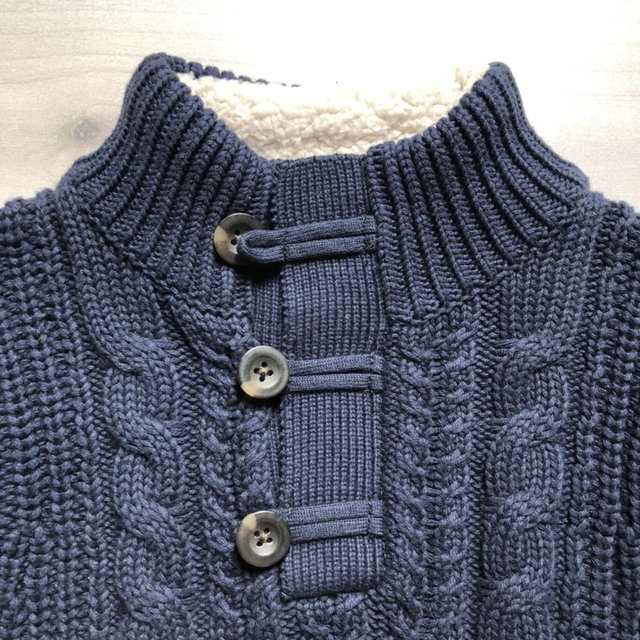 cac4a27275da Baby Gap Navy Elbow Patch Pullover Sweater