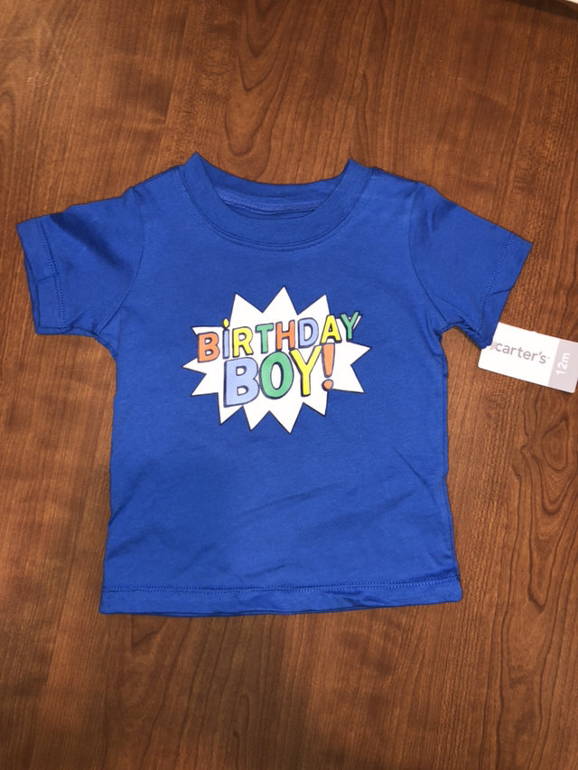 Carters Birthday Boy T Shirt Size 12 Months