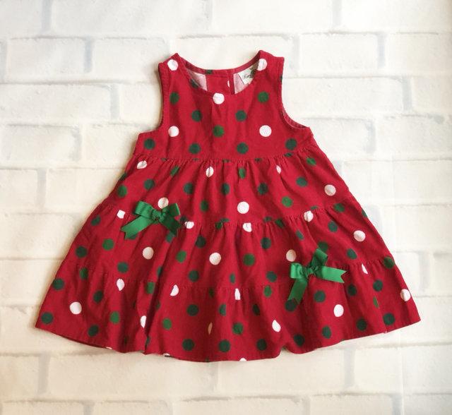 rare editions corduroy polka dot christmas dress