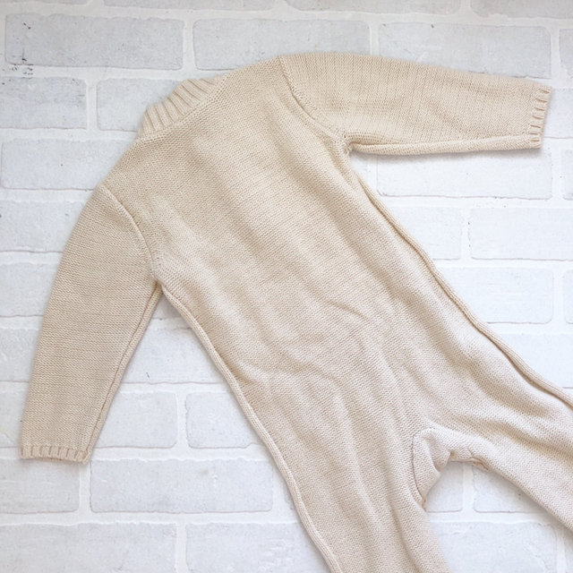Ivory On Cable Knit Sweater Romper