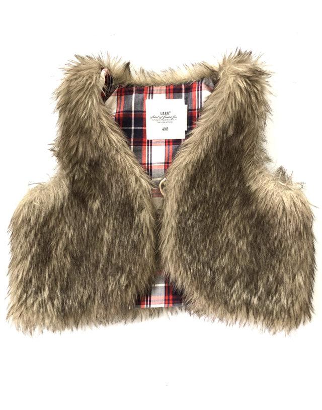 H Amp M Crop Faux Fur Vest 7 8