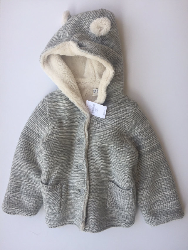 3e9c1e77aeec NWT Bear Sweater Knitted Jacket 18-24 Months