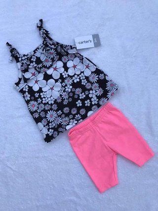 66f6ecbf9ca42 Size: 5T | Mud Pie · $⬇ NWT Carter's Floral Tank with Pink Shorts Size 3  Months