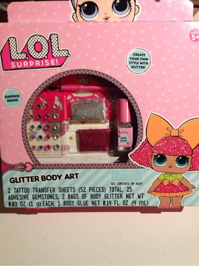 New Lol Surprise Glitter Body Art