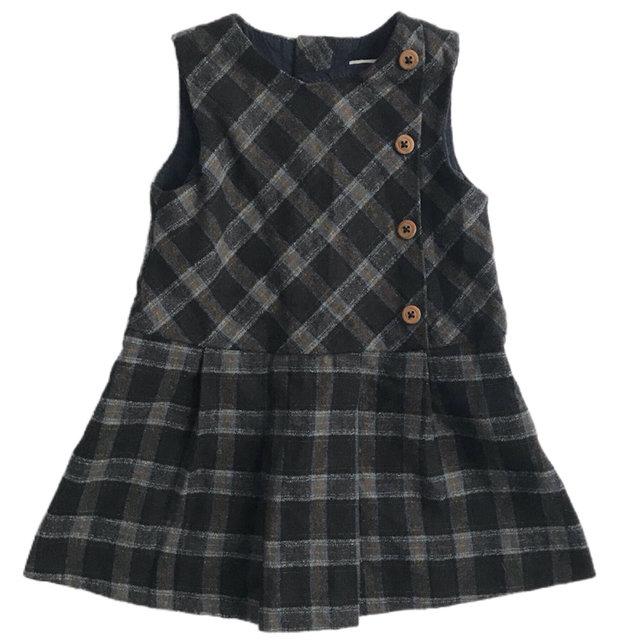 f512fc84c3 Zara Plaid Jumper Dress