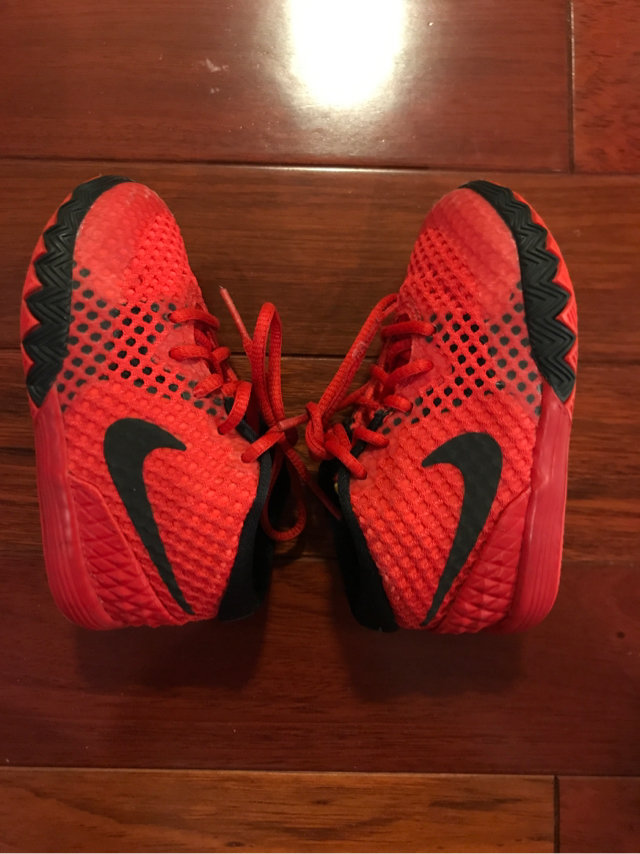 b18c8828eb42 Message Seller  Add to collection Checked collection Add to Collection. Nike  Red Kyrie Irving Tennis Shoes Toddler Size 6C