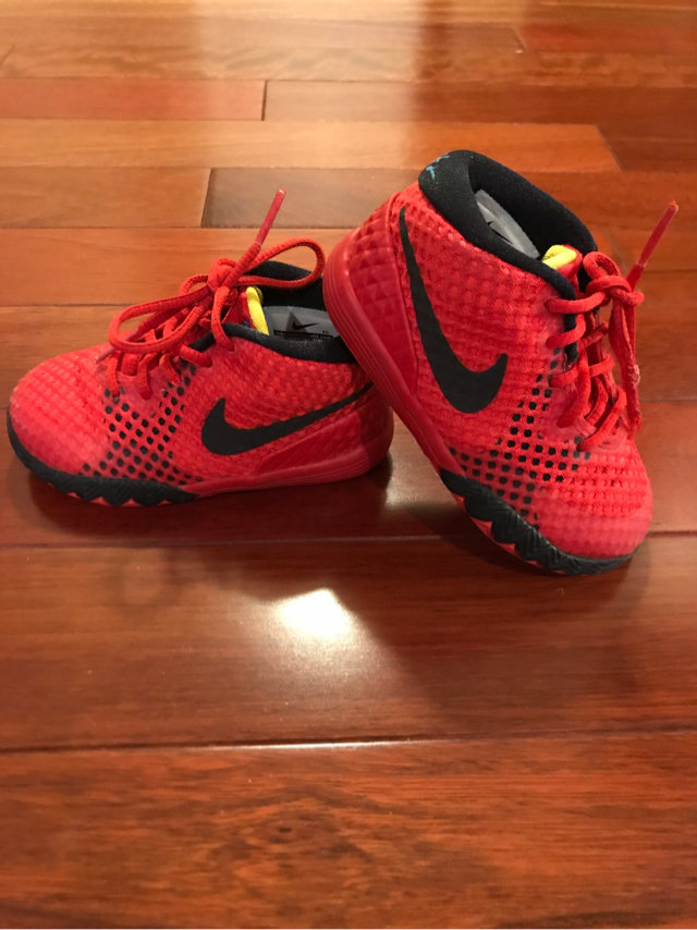 f37458218993 Nike Red Kyrie Irving Tennis Shoes Toddler Size 6C