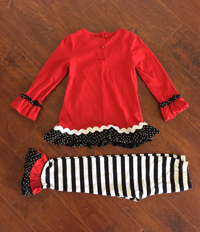61ab87077d91 Message Seller; Add to collection Checked collection Add to Collection. Rare  Editions Girl 6 Red Snowman Ruffle Outfit Christmas Holiday Appliqué