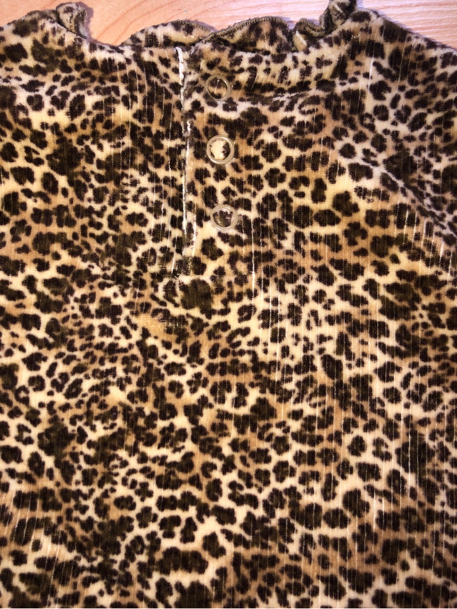 b523951b0f6 Created with Sketch. Created with Sketch. Add to Collection. Leopard Print  Velvety Dress Size 18 Month So Cute!