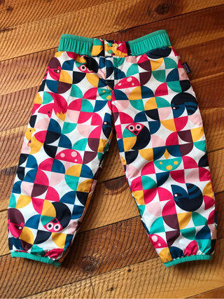 638bd13b84 Patagonia Reversible Puffball Snowpants Pink Mint Green Geometric Print  With Animals