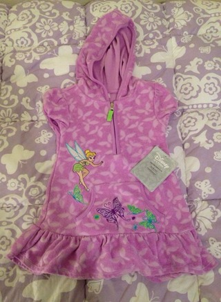 NWT Tinkerbell Swim Cover Up Dress Size 2/3