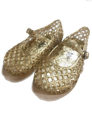 d6646f527ad5 Size  7 Infant. Old Navy Gold Glitter Jelly Shoes - 6