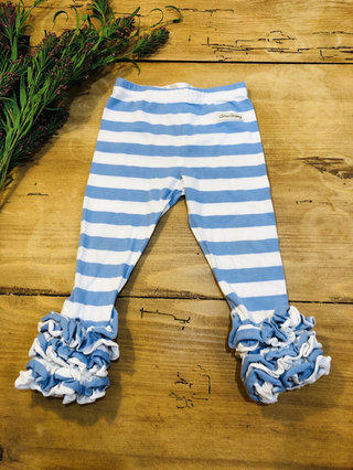 5df3b3d98588d6 Sew Sassy 18M Blue & White Striped Icing Leggings