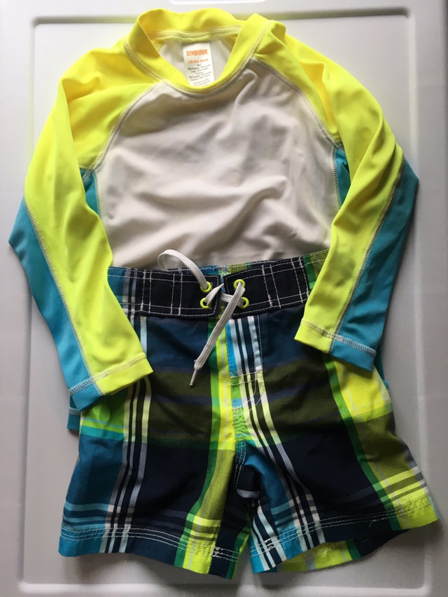 0143ece91f Message Seller; Add to collection Checked collection Add to Collection. Gymboree  Boys Swim Trunks Rash Guard 12-18. $8.00 ...