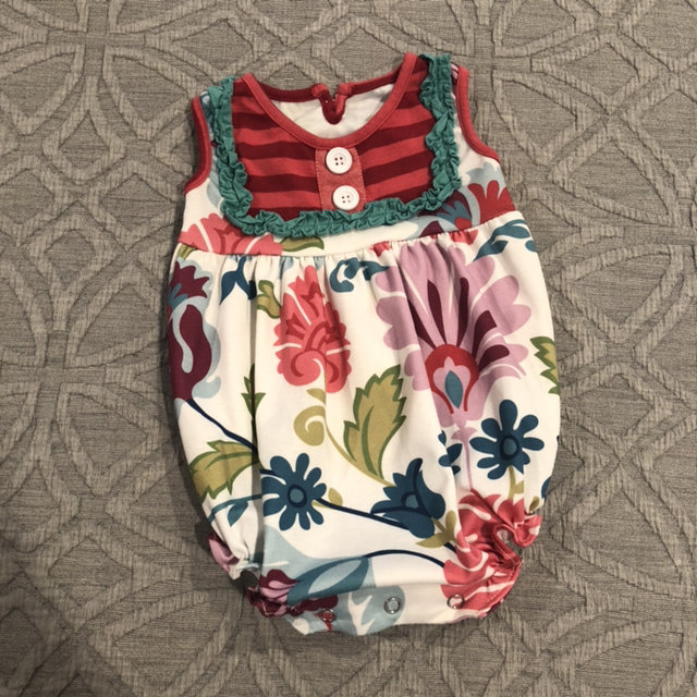 b5e0457ab8980 Persnickety Floral Ruffle Bubble Romper