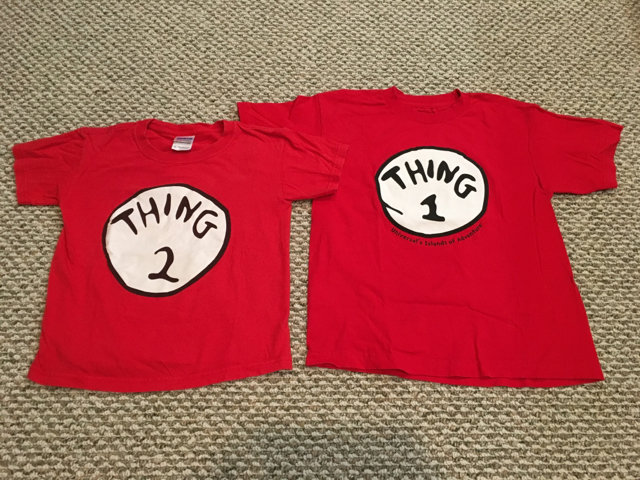 Dr Seuss Thing 1 And Thing 2 Shirts