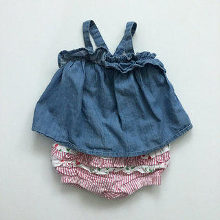 81c4a1451929 Old Navy Chambray Tank   Crazy 8 Striped Cherry Bloomers