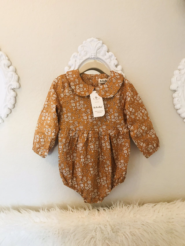 cb7fc33ed Brand New Mustard Floral Romper 6-12 Months