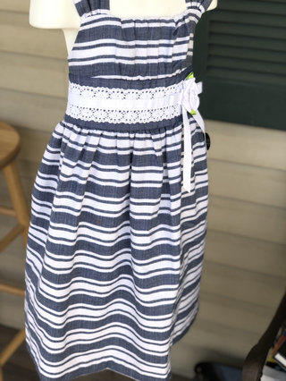 Girls Crazy 8 Dress Size Med 7-8 Chambray Dresses
