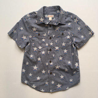 9ada59fea92 Cat   Jack ⭐ Chambray Stars Short Sleeve Shirt Size ...
