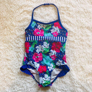 NWT Gymboree Boys Pool Blue Pineapple 1-Piece Swimsuit Size 12-18 Months