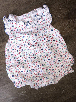 a6afa0f7c Kissy Kissy Red And Blue Floral Bubble Romper