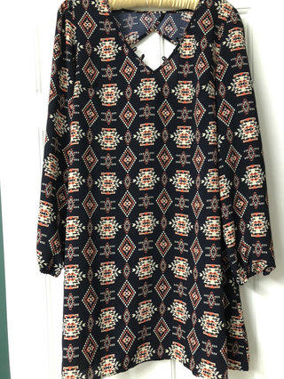 04d350b2d Mama Xhiliration Tribal Print Dress