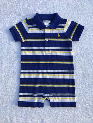 552c90855 NWOT Ralph Lauren Striped Polo Romper Size 6 Months