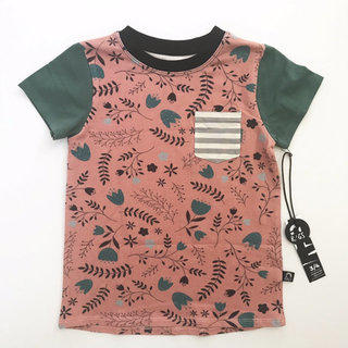aad6fd035 Rags Pink Floral Tee Size 3/4
